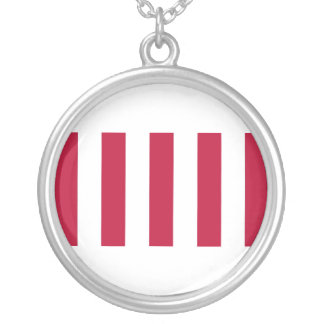 U.S. Sons of Liberty 9 Vertical Strip Flag Silver Plated Necklace