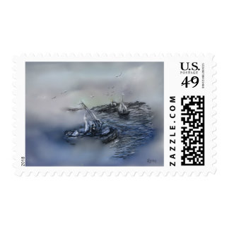 U S stamp New Art, Getting Out of the Fog ,By Rena