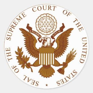 U.S. Supreme Court Seal Round Stickers