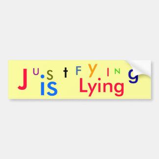 U, S, t, J, F, y, I, N, g, es, mintiendo Pegatina De Parachoque