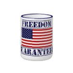 U.S. Taza de café GARANTIZADA LIBERTAD de la bande