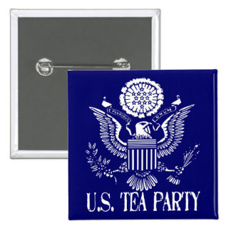 U.S. Tea Party Pinback Buttons