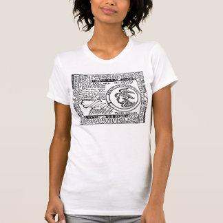 U.S. Three Dollar Bill - B/W Front/Back T-Shirt #2