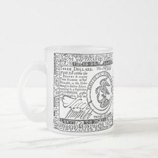 U.S. Three Dollar Bill - B/W Mug #2