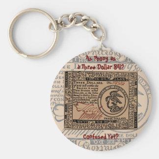 U.S. Three Dollar Bill: Confused? - Keychain
