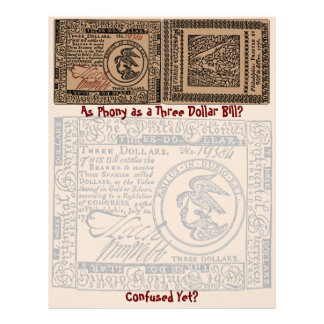 U.S. Three Dollar Bill: Confused? - Letterhead