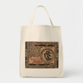 U.S. Three Dollar Bill - Grocery Tote
