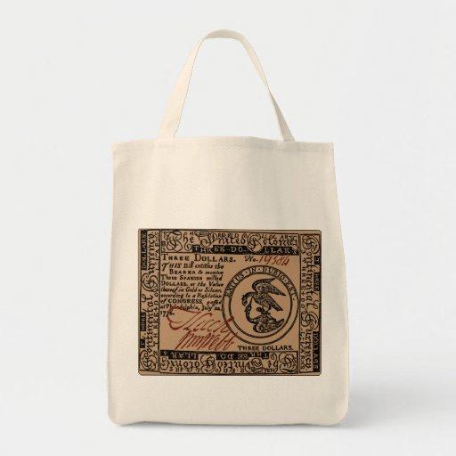 U.S. Three Dollar Bill - Grocery Tote Tote Bag