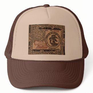 U.S. Three Dollar Bill - Hat hat