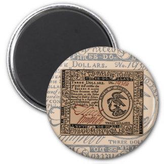 U.S. Three Dollar Bill - Magnet #2