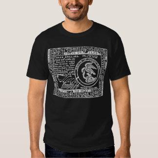 U.S. Three Dollar Bill - W/B Front/Back T-Shirt #1