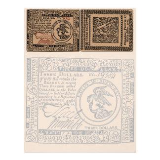 U.S. Tres billete de dólar - papel con membrete Membretes Personalizados