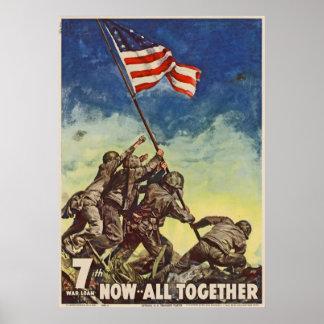 """U.S. Vintage """"ahora todo del Cuerpo del Marines ju Póster"""
