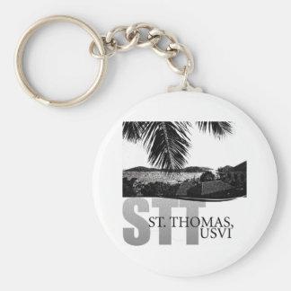 U.S. Virgin Islands Basic Round Button Keychain