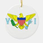 U.S. Virgin Islands Double-Sided Ceramic Round Christmas Ornament