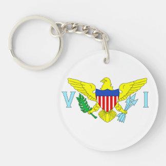 U.S. Virgin Islands Double-Sided Round Acrylic Keychain