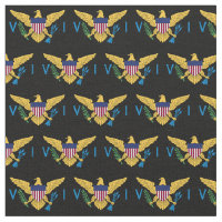 U.S. Virgin Islands Flag - Black Fabric