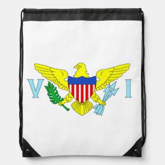 U.S. Virgin Islands Flag Drawstring Backpacks