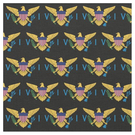 U.S. Virgin Islands Flag (Small)  Black Fabric