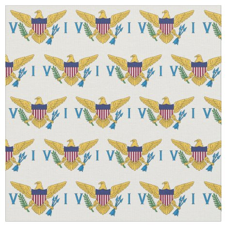 U.S. Virgin Islands Flag (Small) Fabric