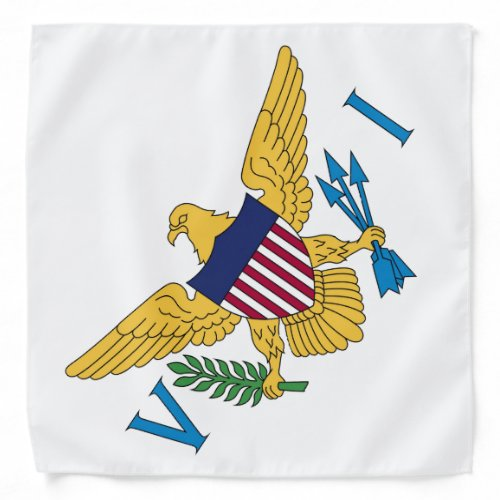 U.S. Virgin Islands Flag White Bandana