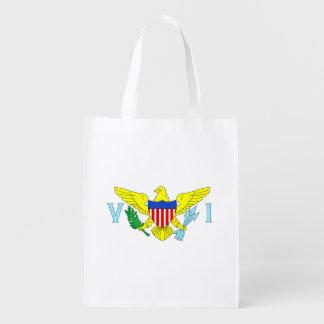 U.S. Virgin Islands Flag Market Totes
