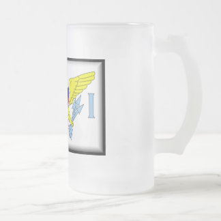 U.S. Virgin Islands Frosted Glass Beer Mug
