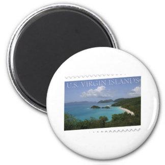 U.S. Virgin Islands - St. John's Trunk Bay 2 Inch Round Magnet