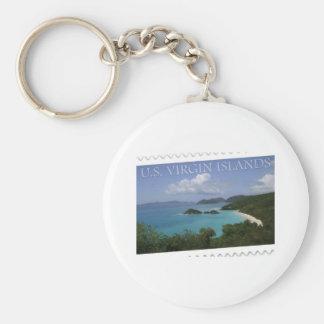 U.S. Virgin Islands - St. John's Trunk Bay Basic Round Button Keychain