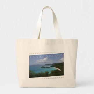 U.S. Virgin Islands - St. John's Trunk Bay Large Tote Bag