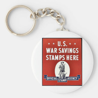 U.S. War Savings Stamps Here Key Chain