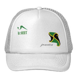 U Seet Jamaica White Golf Hat