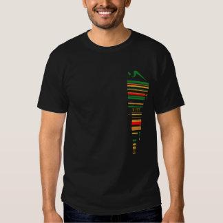 U Seet Reggae Stripes Black T Shirt