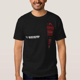 U Seet Stripe Black T Shirt