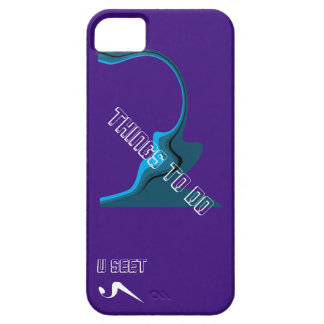 """U Seet """"Things to do"""" iPhone5 Protective Case iPhone 5 Case"""