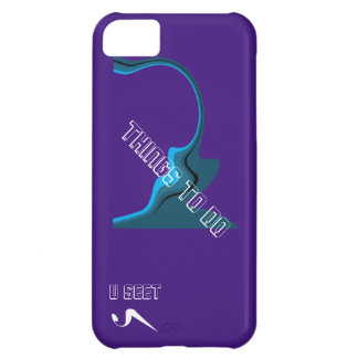 """U Seet """"Things to do"""" iPhone5 Protective Case iPhone 5C Cover"""