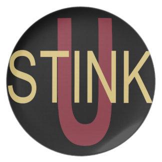 U Stink Garnet and Gold Plate