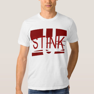 U Stink White and Crimson T-Shirt