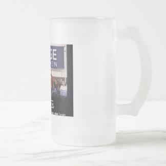 u suck obama 16 oz frosted glass beer mug