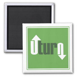 U-Turn 2 Inch Square Magnet