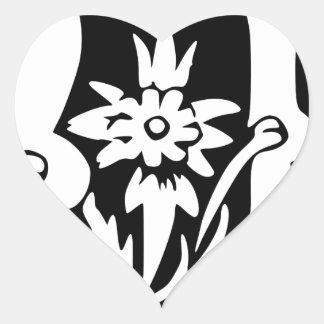 U-U Letter Love You Heart Sticker