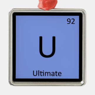 U - Ultimate Frisbee Sports Chemistry Symbol Metal Ornament