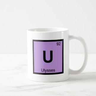 U - Ulysses Greek Chemistry Periodic Table Coffee Mug