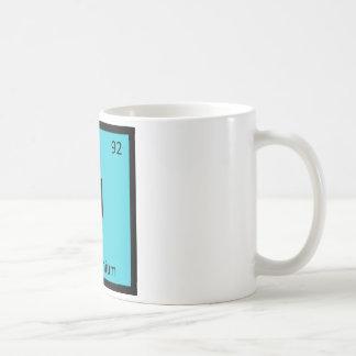U - Unobtainium Chemistry Periodic Table Symbol Coffee Mug