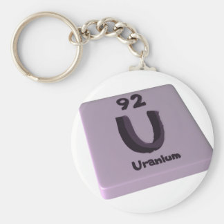 U Uranium Basic Round Button Keychain