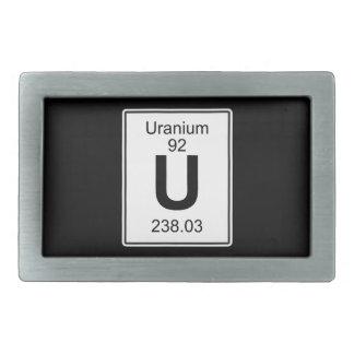 U - Uranium Belt Buckle