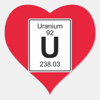 U - Uranium Heart Sticker