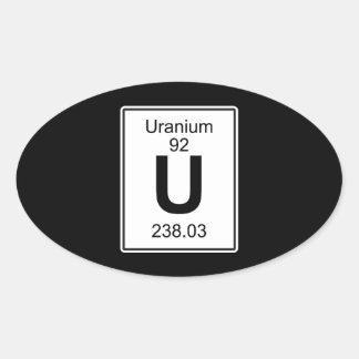 U - Uranium Oval Sticker