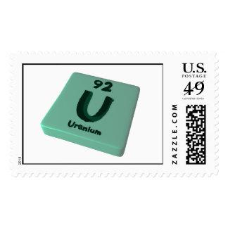 U Uranium Postage Stamps