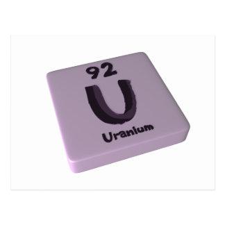 U Uranium Postcard